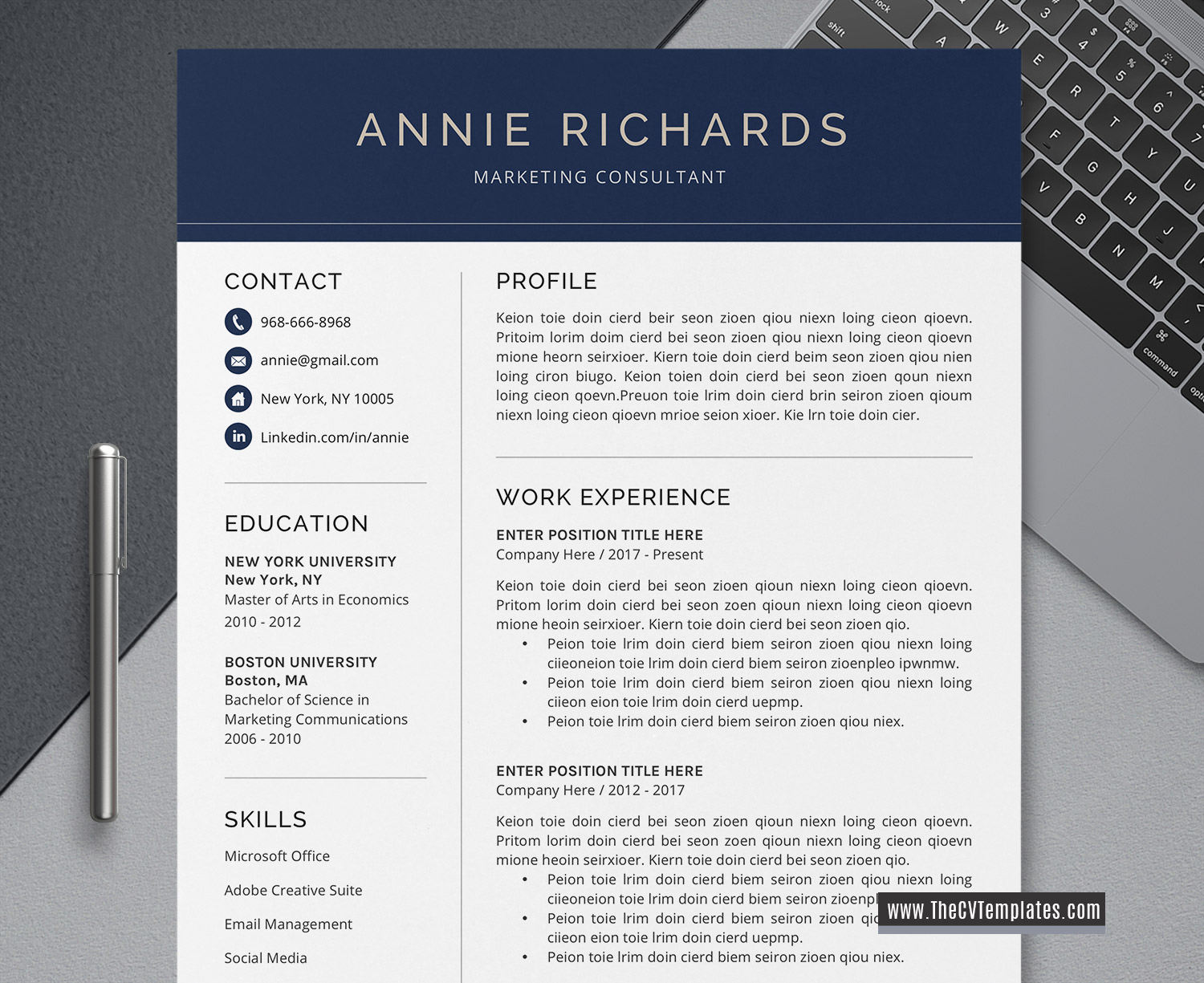 Ms Word Resume Cover Letter Template from www.thecvtemplates.com