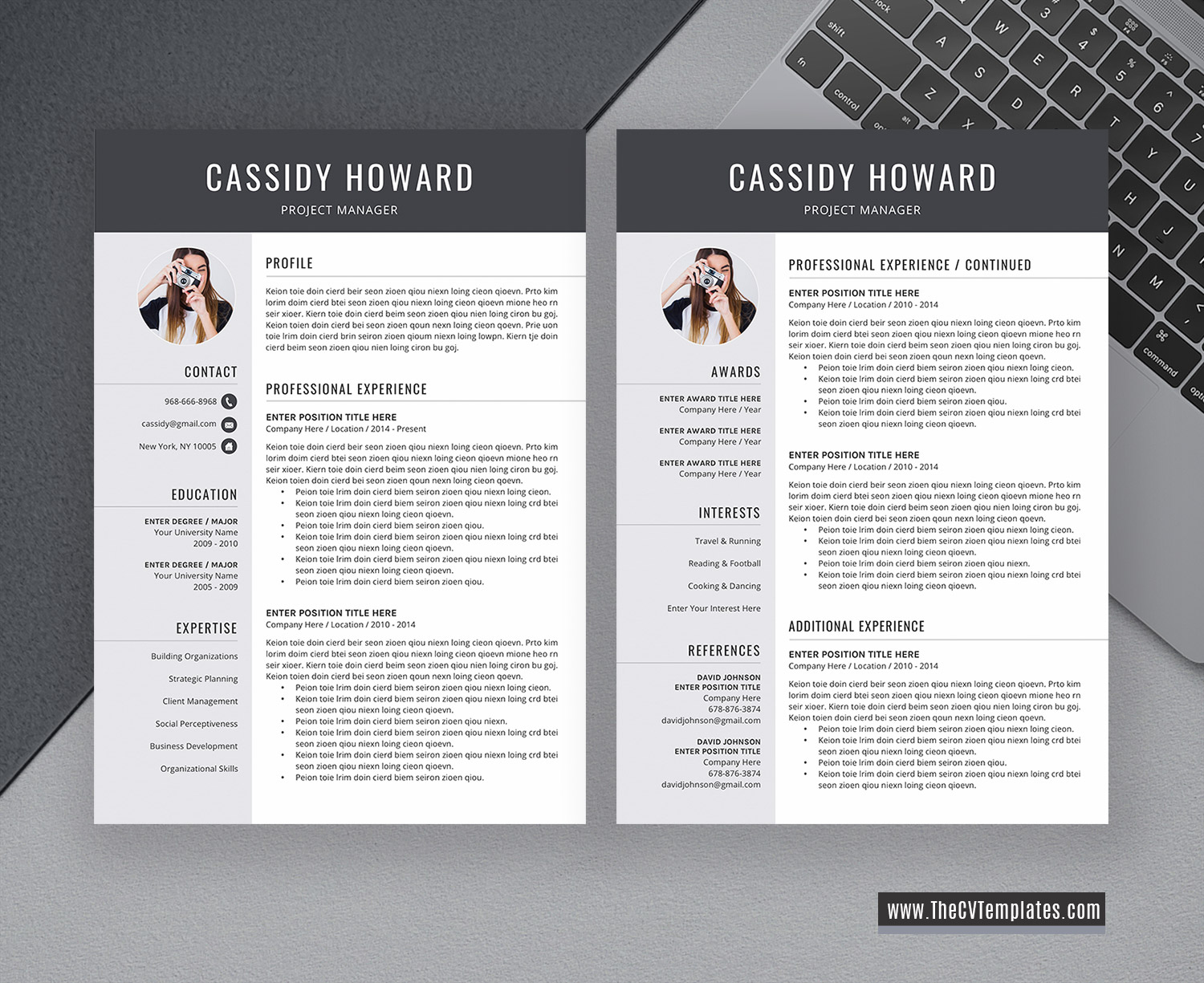 2 Page Cv Format from www.thecvtemplates.com