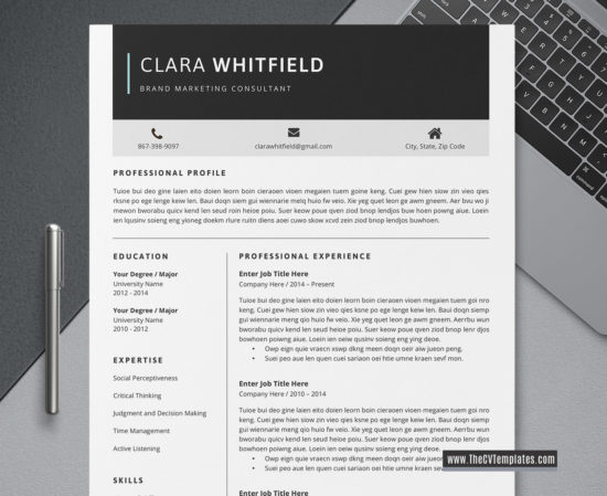2020 unlimited download professional cv template for job