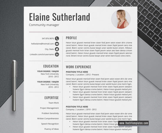2020 creative cv template for ms word  modern cv layout  cover letter  professional resume