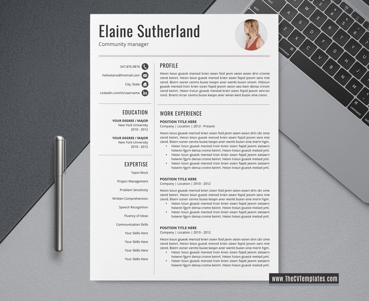 2020 Editable Cv Template For Job Application Cv Format