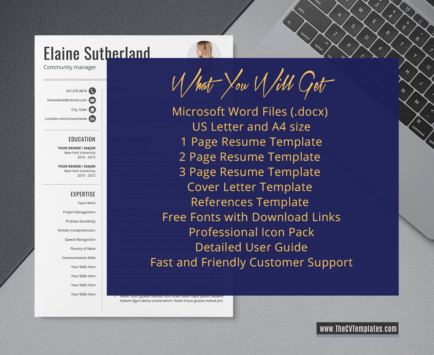 Microsoft Word References Template from www.thecvtemplates.com