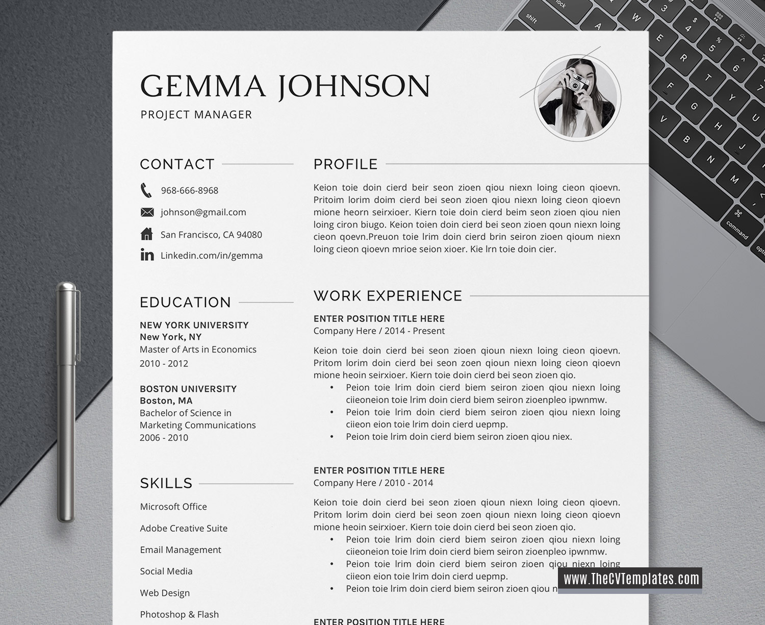 2020 Simple and Clean CV Template for MS Word, Cover Letter, Professional  Resume, Creative Resume, Simple Resume, 1, 2, 3 Page, Job Winning Resume,  ...
