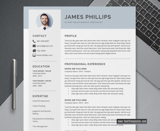 2020 creative cv template for ms word  modern cv layout