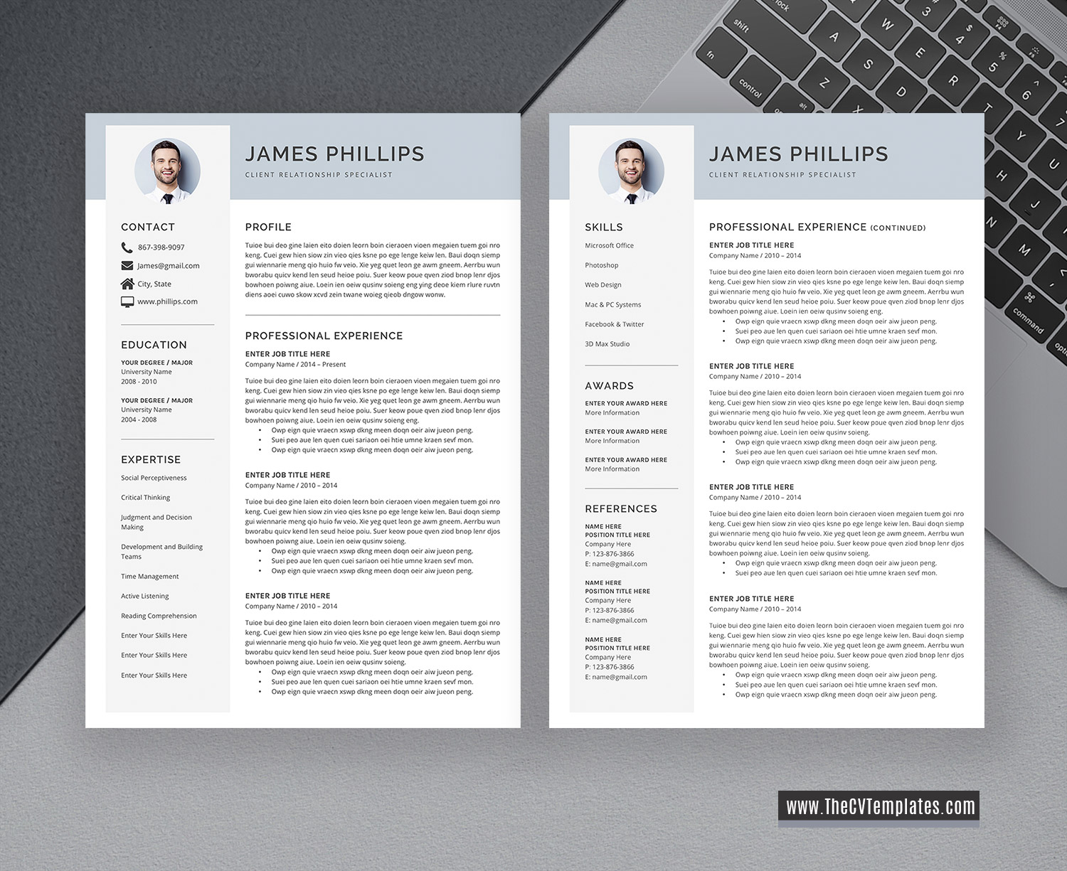Unlimited Download Professional CV Template for Job ...