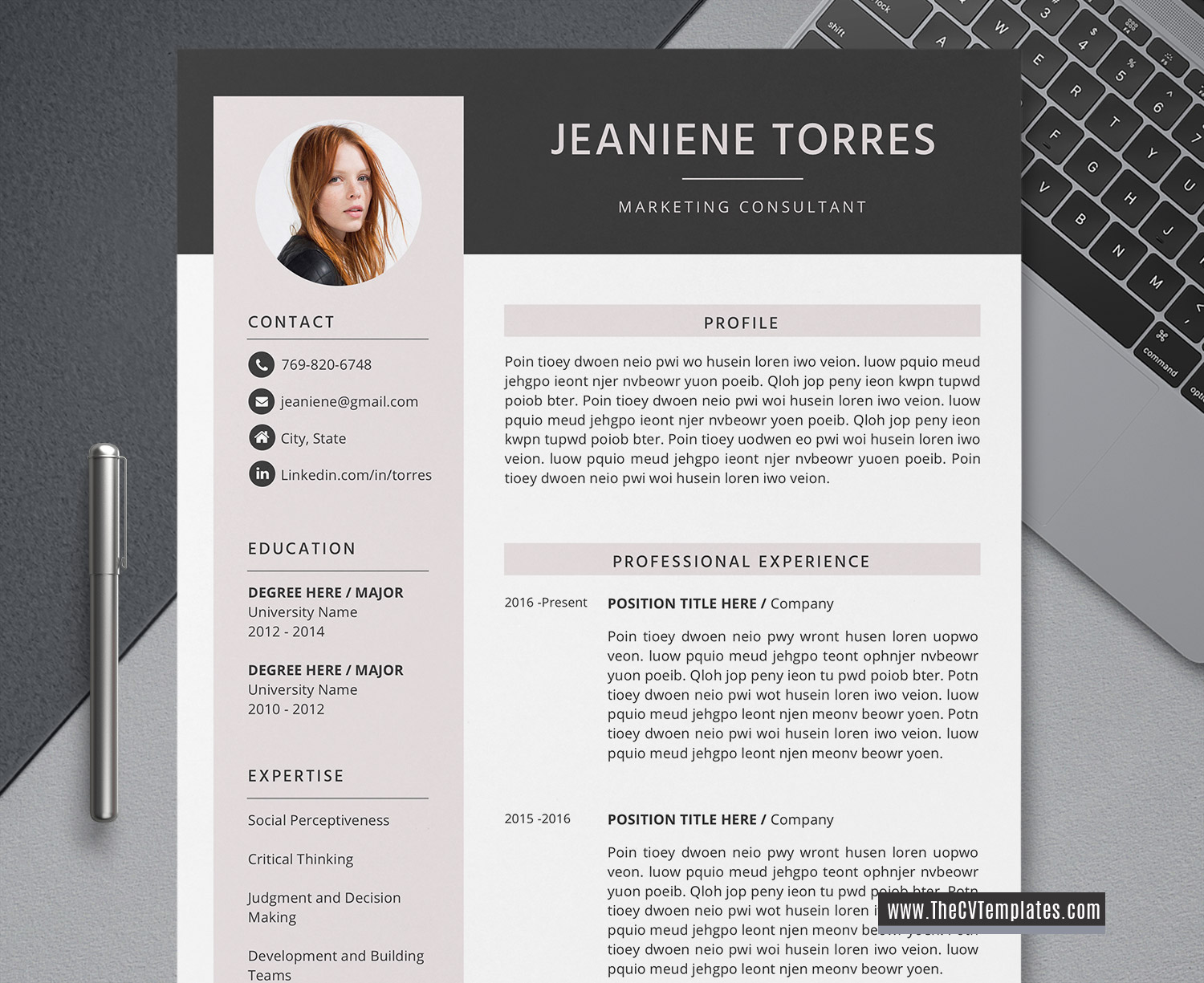 2020 Creative Cv Template For Ms Word Modern Cv Layout Cover