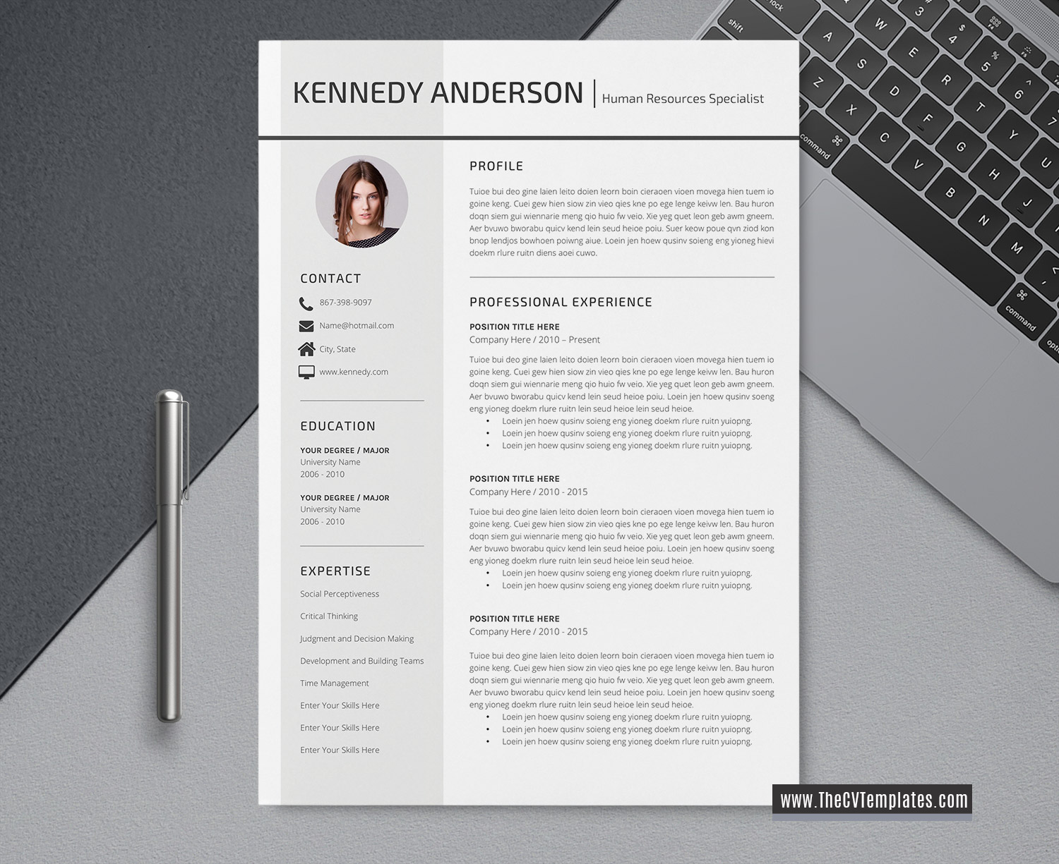 2020 modern cv template for ms word  curriculum vitae  professional resume format  creative