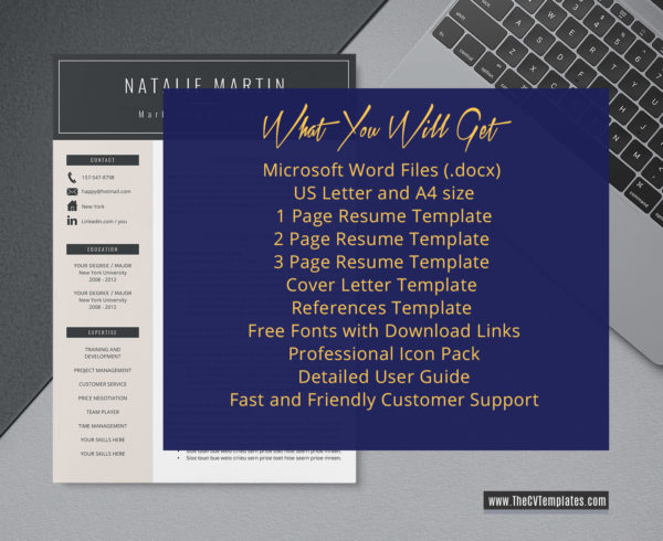2020 Cv Template For Ms Word Professional And Modern Resume