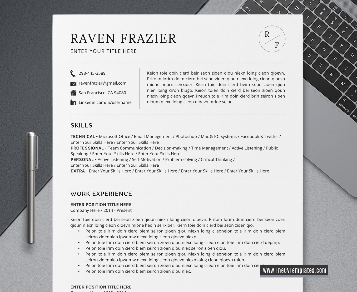 Simple And Basic Cv Template Word Cover Letter Minimalist Resume Professional Resume Editable Resume Functional Resume 1 2 3 Page Printable Curriculum Vitae Template Thecvtemplates Com