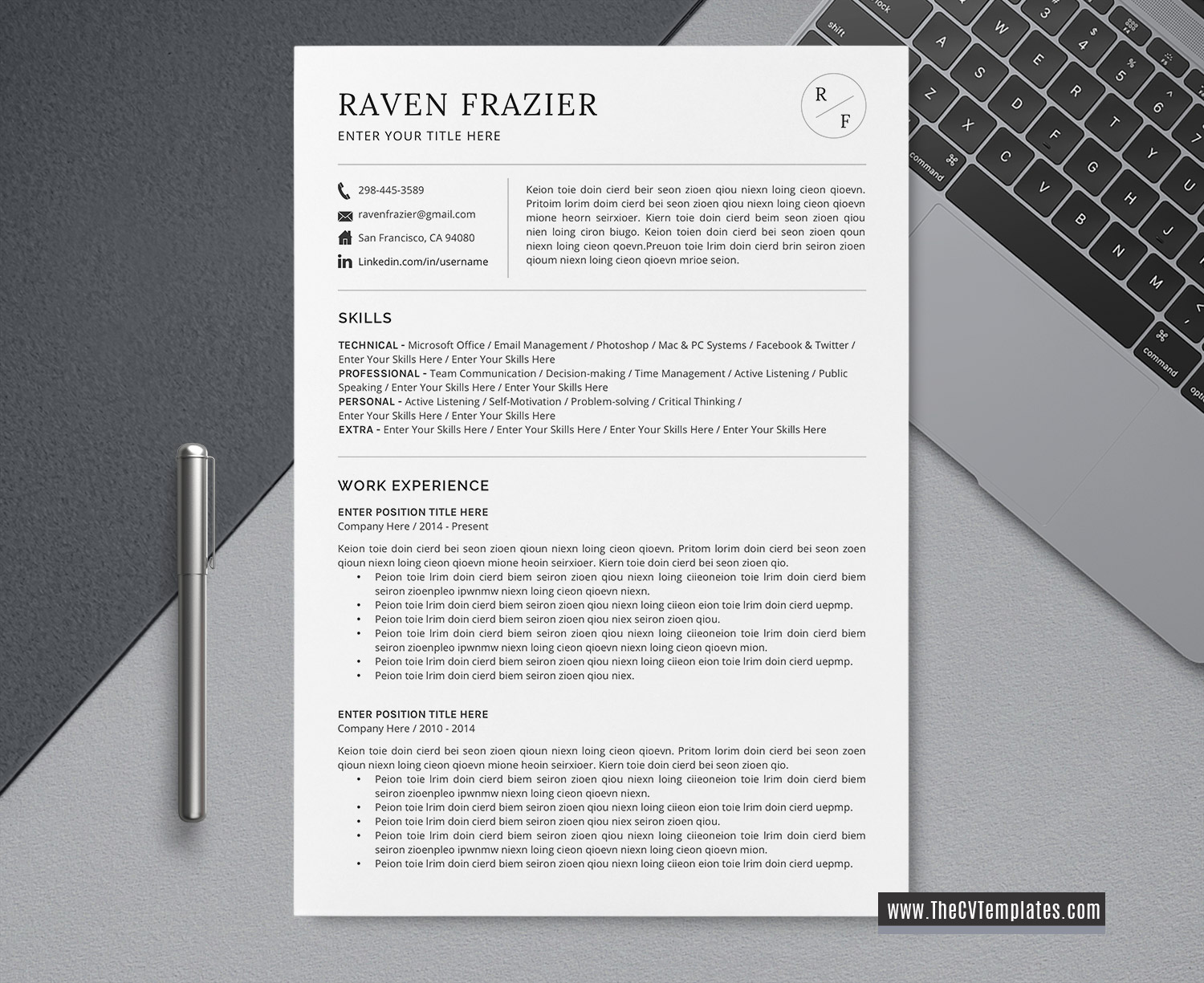 simple and basic cv template word  cover letter