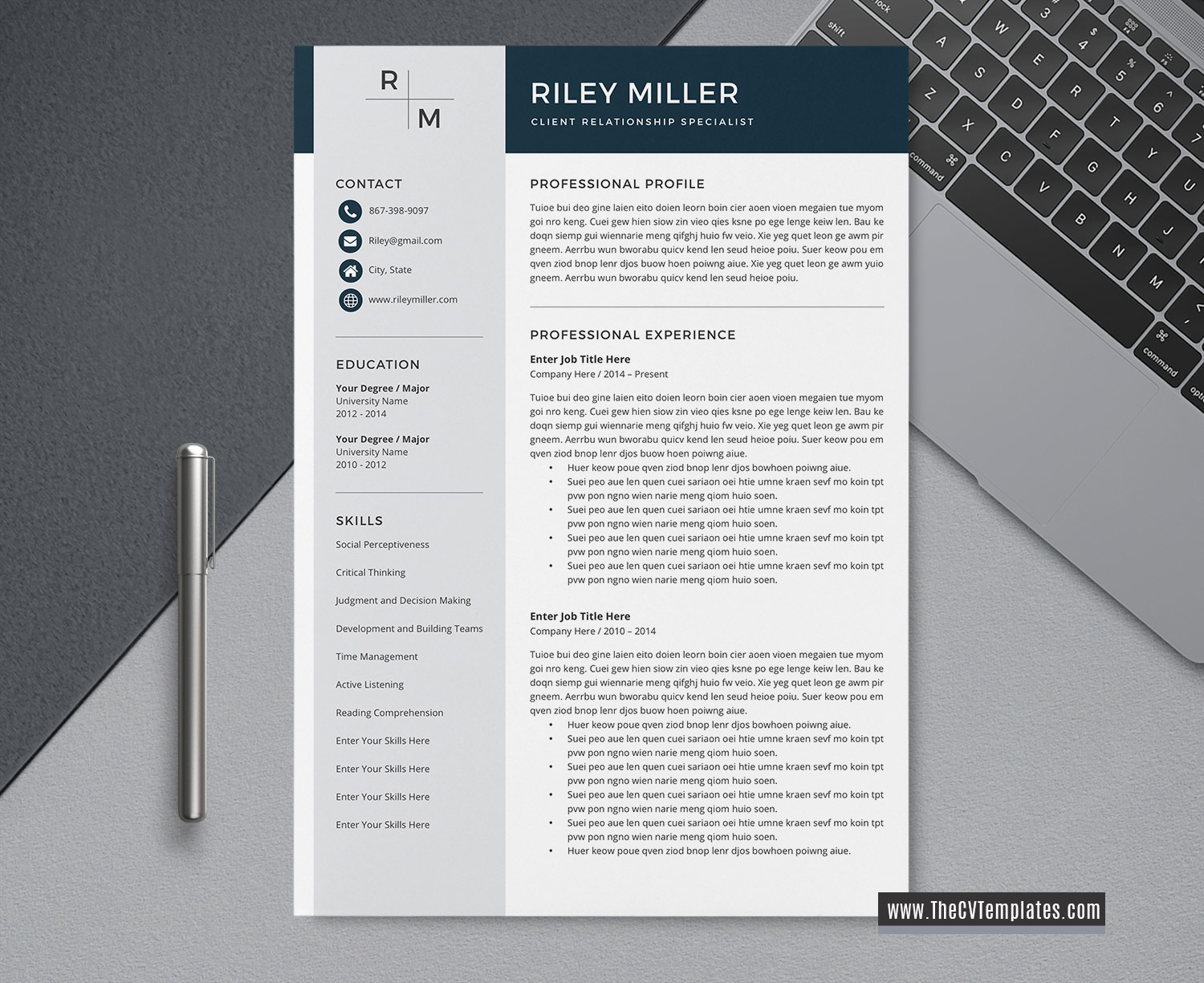 Professional Cv Template For Word Unique Cv Format Modern Resume Format Creative Resume Design 1 2 3 Page Job Winning Resume Printable Curriculum Vitae Template Thecvtemplates Com
