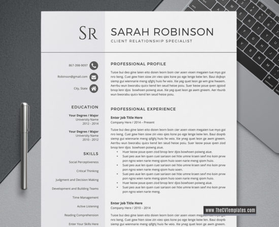 2020 cv template for ms word  professional  u0026 modern cv