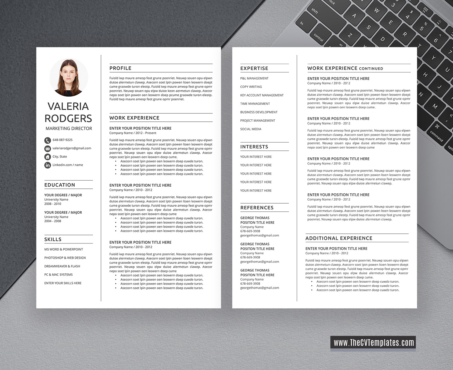 2020 cv template for ms word  professional  u0026 modern cv template  cover letter  references  1